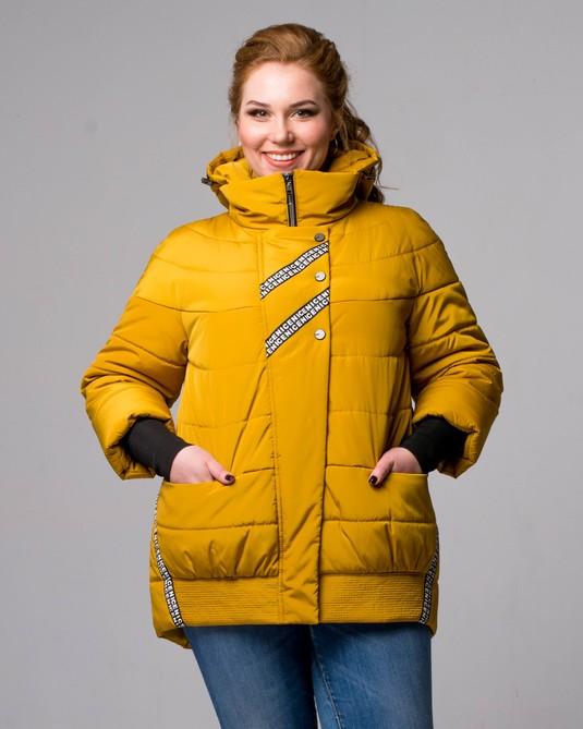 Куртка с манжетами горчица