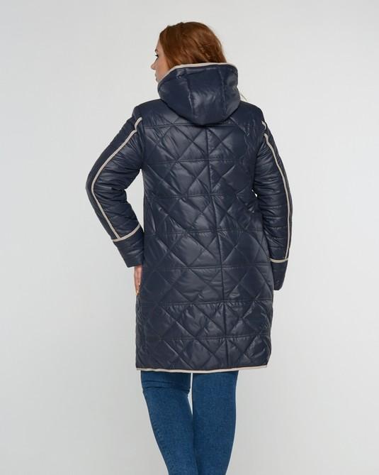 Куртка стеганная с капюшоном синяя