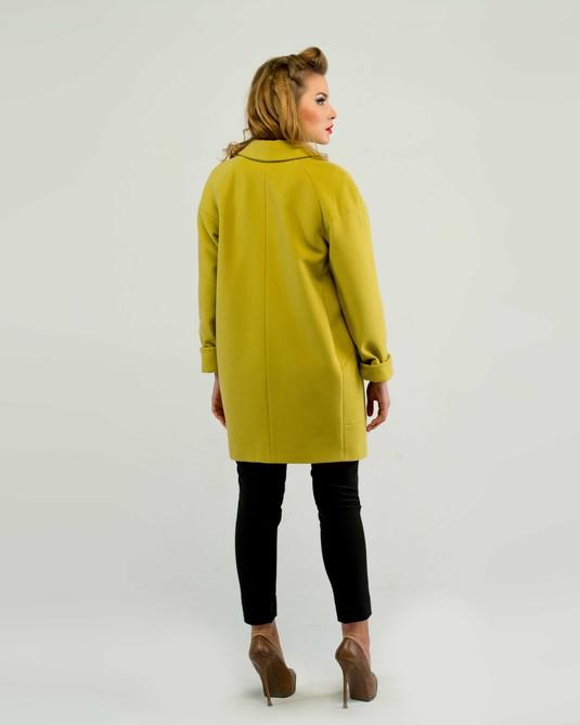 Пальто прямое лимон
