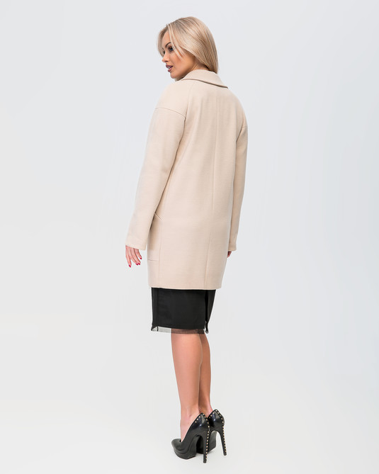 Пальто прямое беж