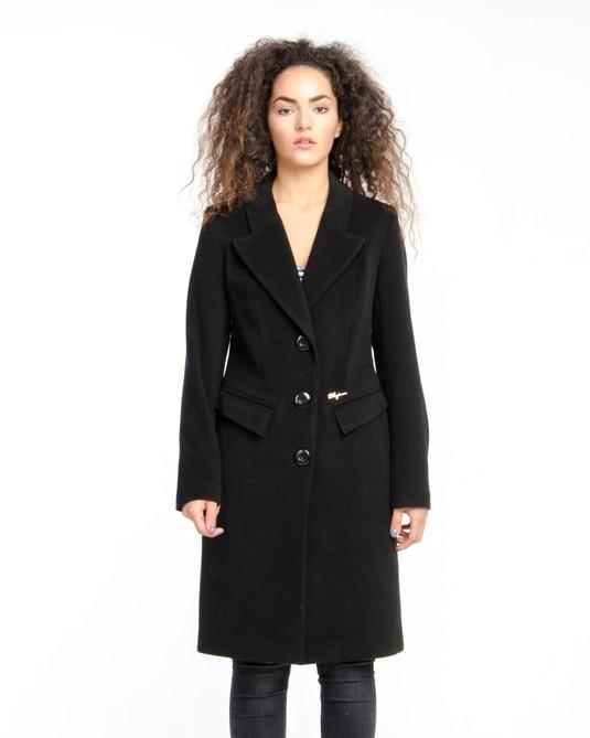 Пальто приталенное классика черное