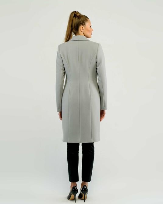 Пальто приталенное классика серое