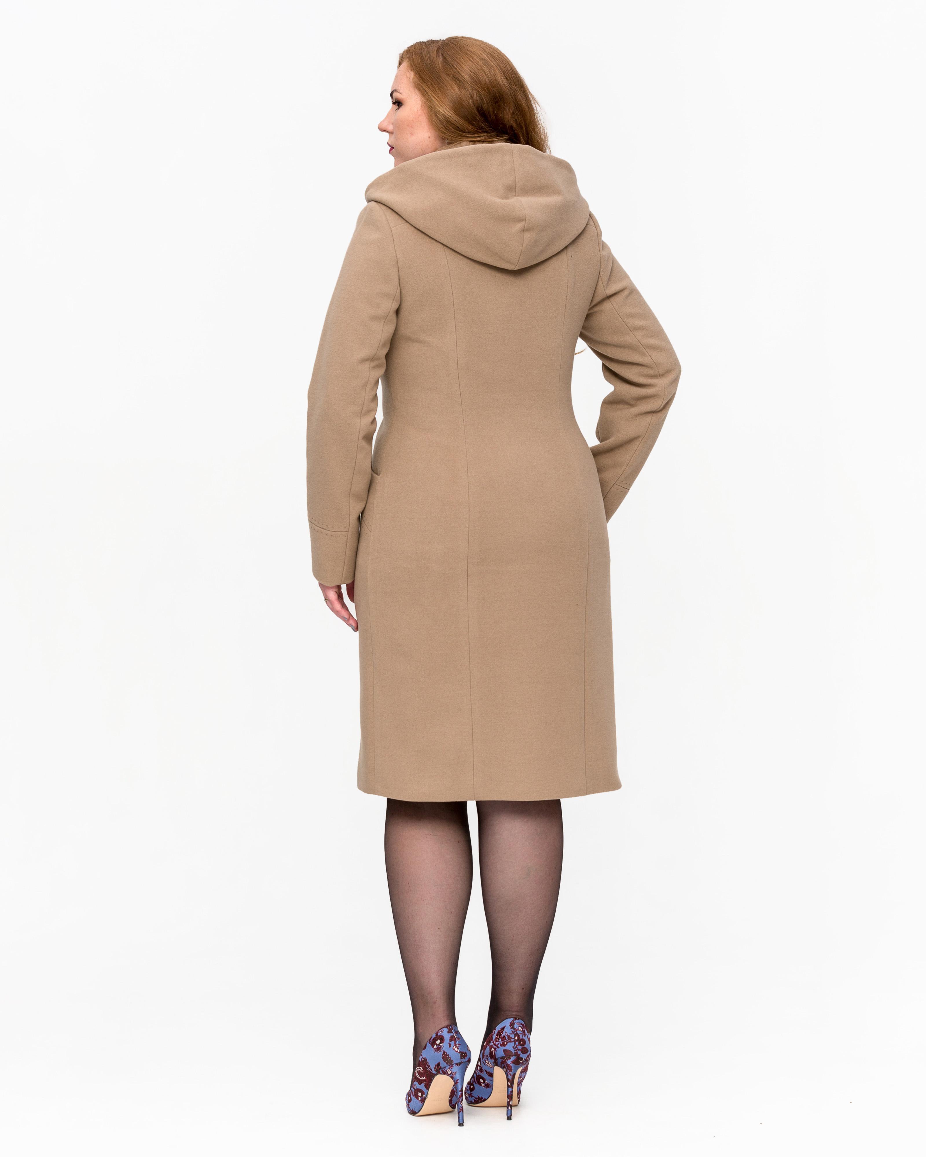 Пальто строгое с капюшоном