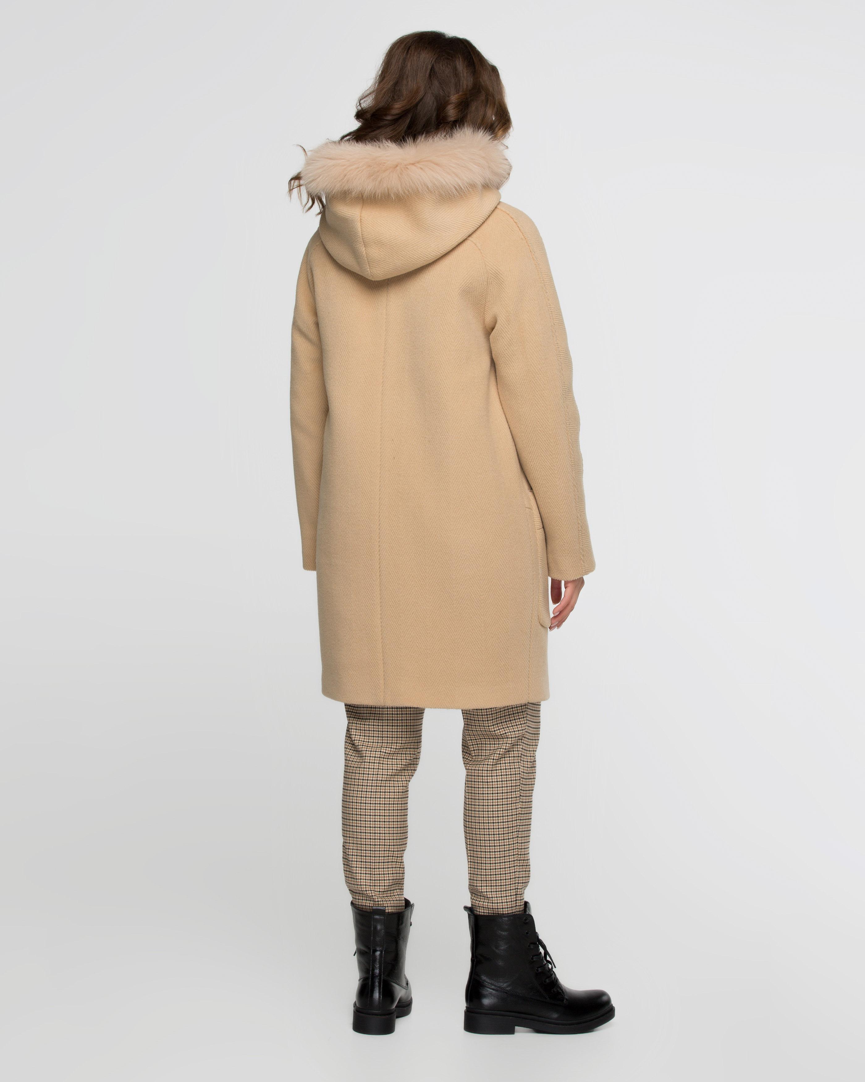 Пальто-парка шерстяное