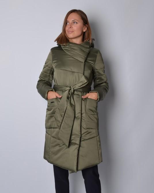 Куртка из атласа хаки
