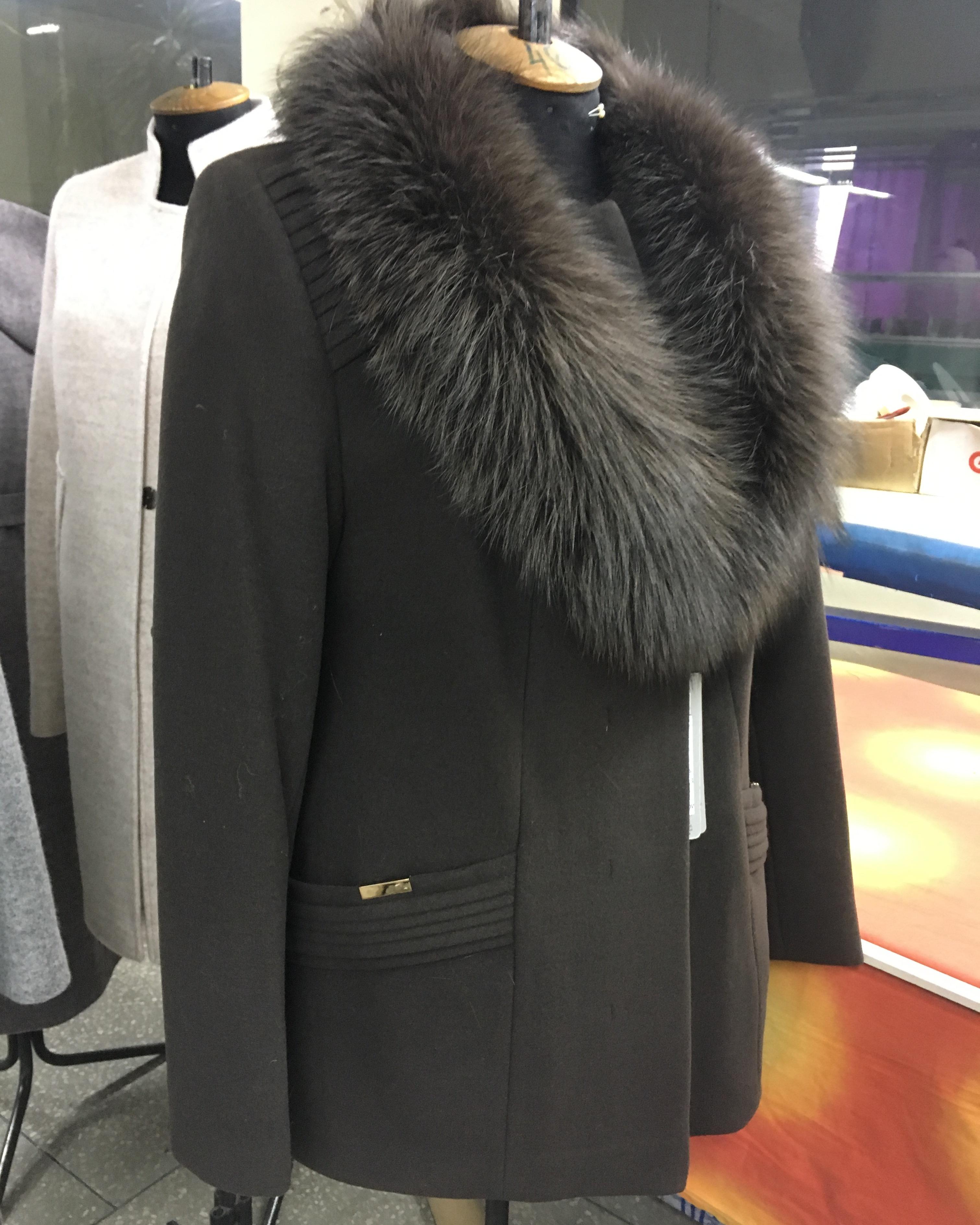 Короткое пальто с шалью