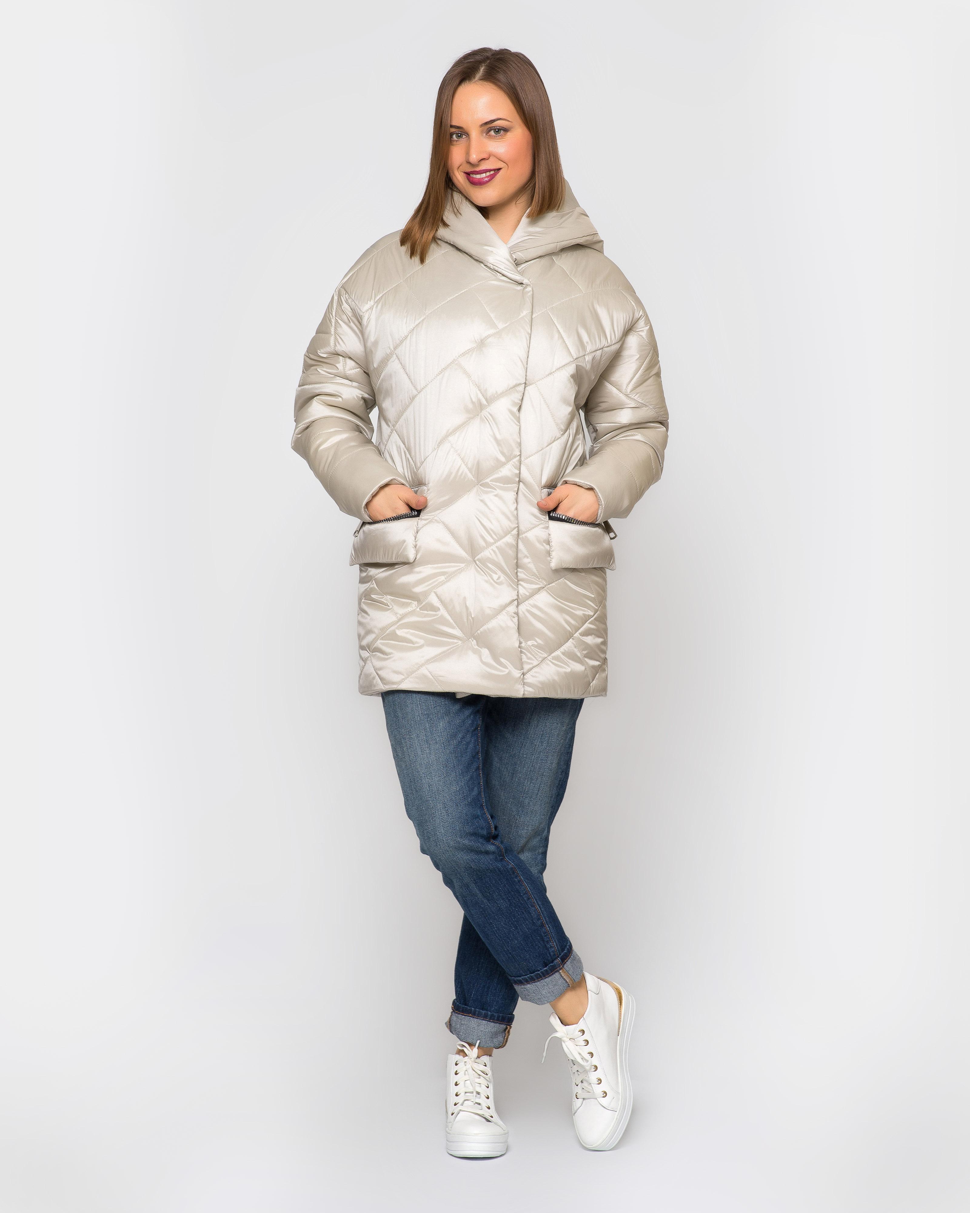 Куртка атлас с капюшоном