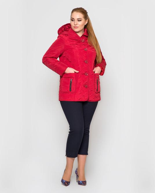 Куртка со съемным капюшоном красная