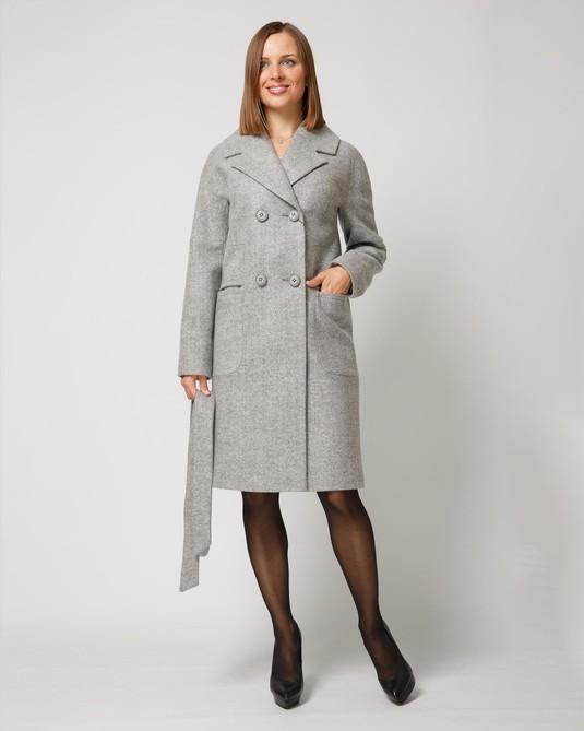 Пальто классика светло-серый