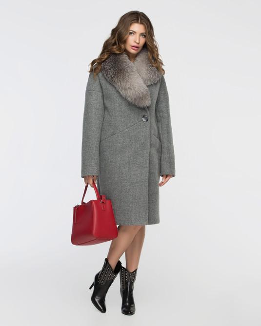 Зимнее пальто серое
