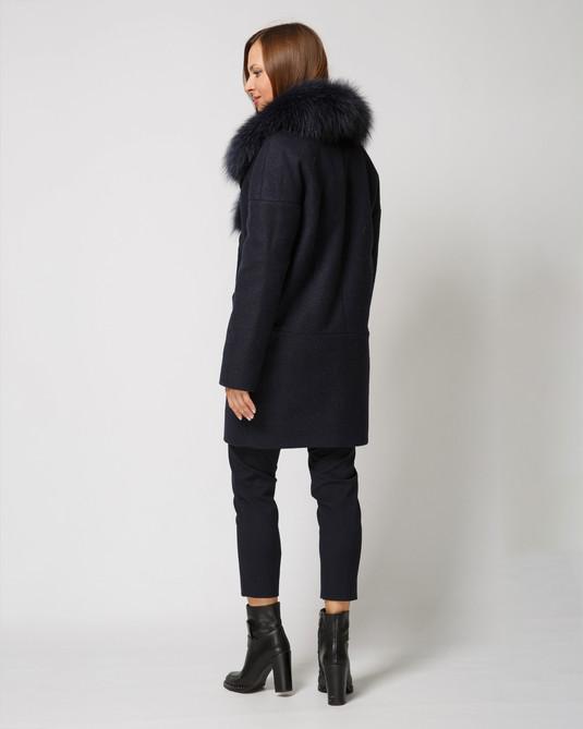 Зимнее пальто темно-синий