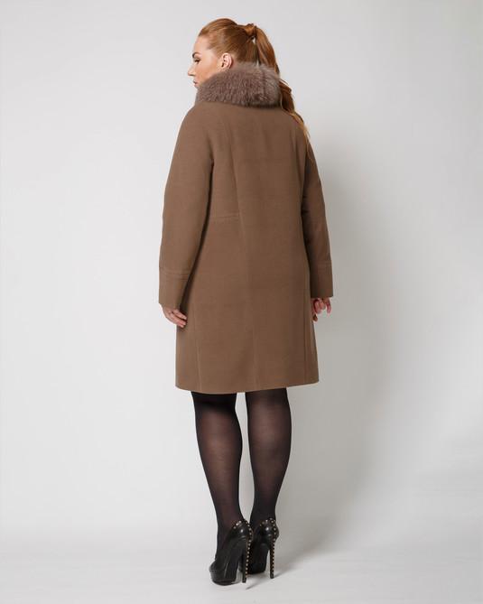 Зимнее пальто какао