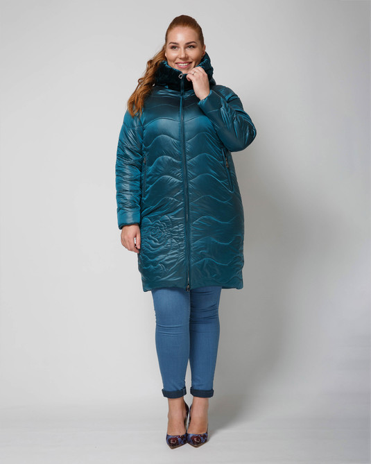 Куртка атласная мор-волна