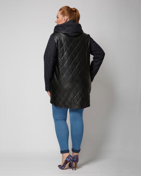 Куртка комбинированная темно-синий
