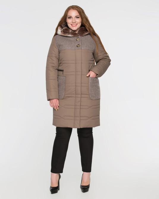 Куртка зимняя ботал беж