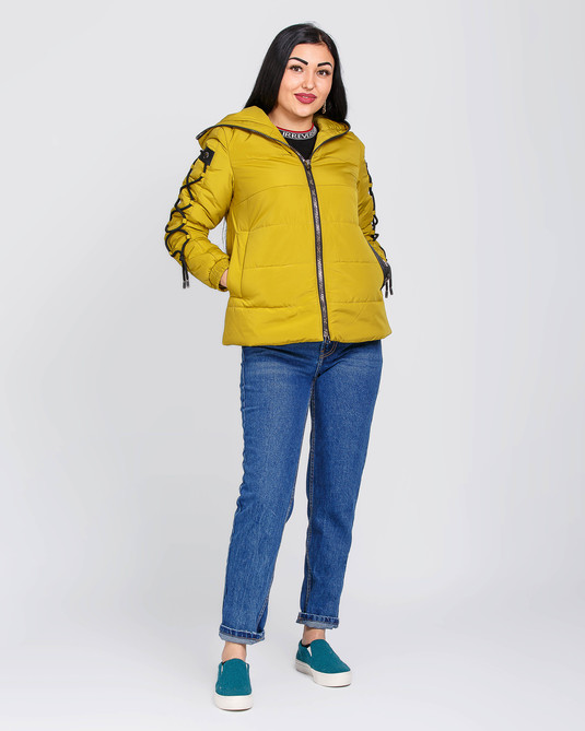 Куртка оверсайз желтая