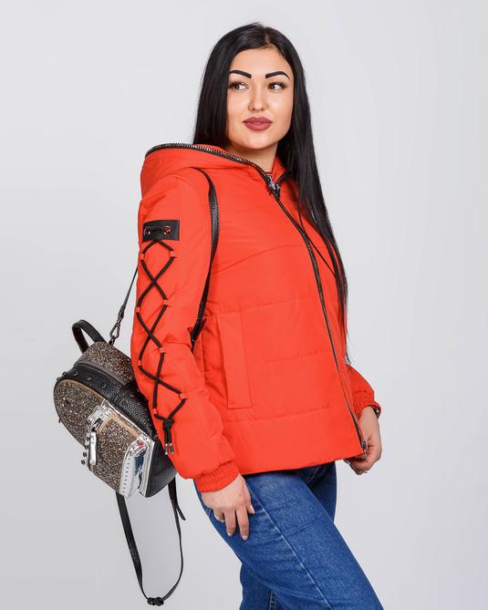 Куртка оверсайз коралловая