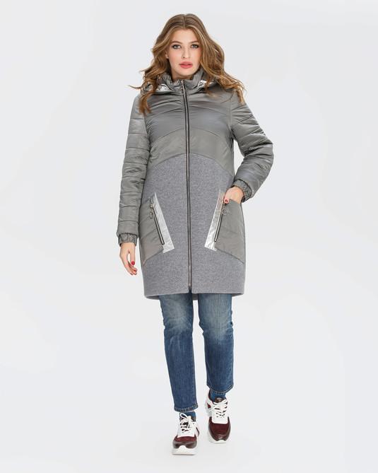 Куртка с кашемиром серая