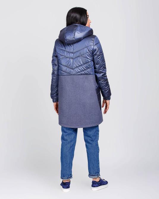 Куртка с кашемиром синяя