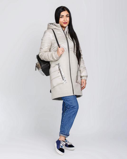 Куртка с кашемиром молочная