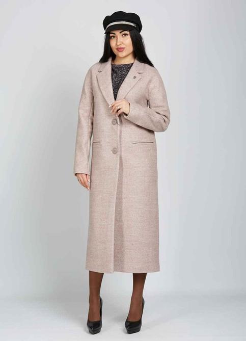 Длинное пальто беж
