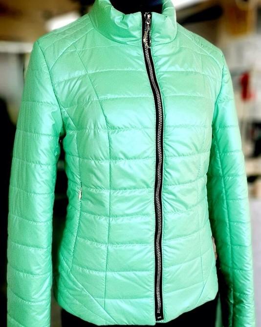 Приталенная куртка ментол