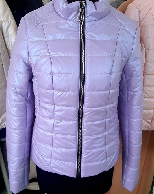 Приталенная куртка лиловая