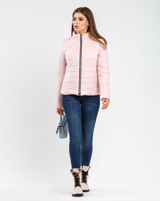 Приталенная куртка пудра