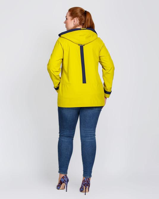 Ветровка двухцветная желтый