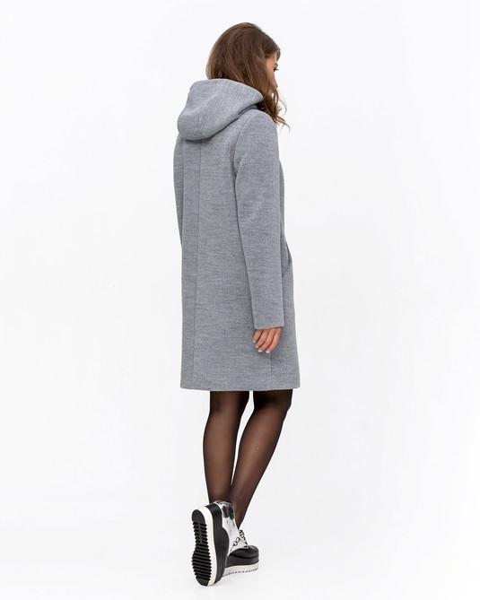 Пальто на молнии светло-серое