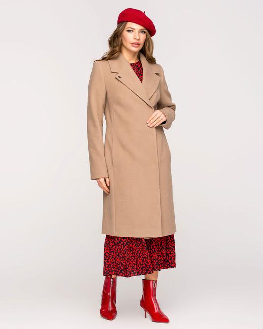 Пальто классика с поясом беж
