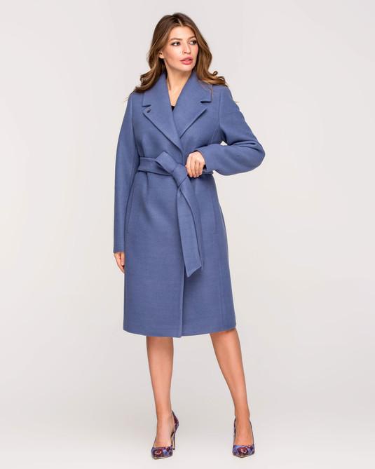 Пальто классика с поясом джинс