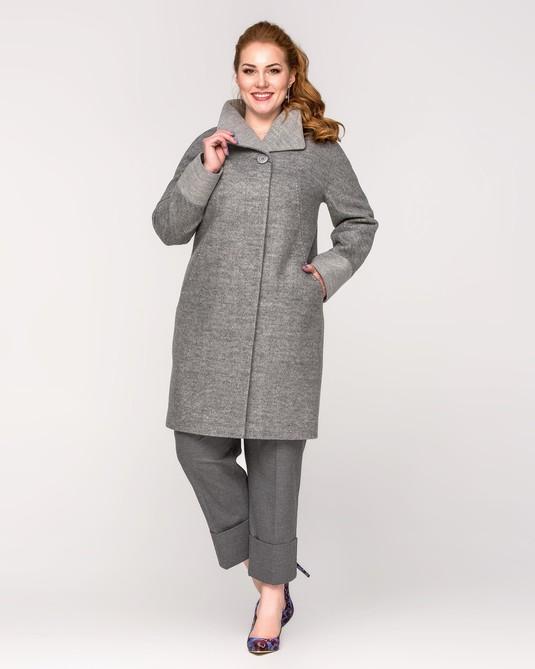 Пальто Ботальное серый