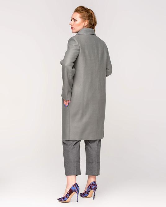 Пальто женское на пуговицах фисташка
