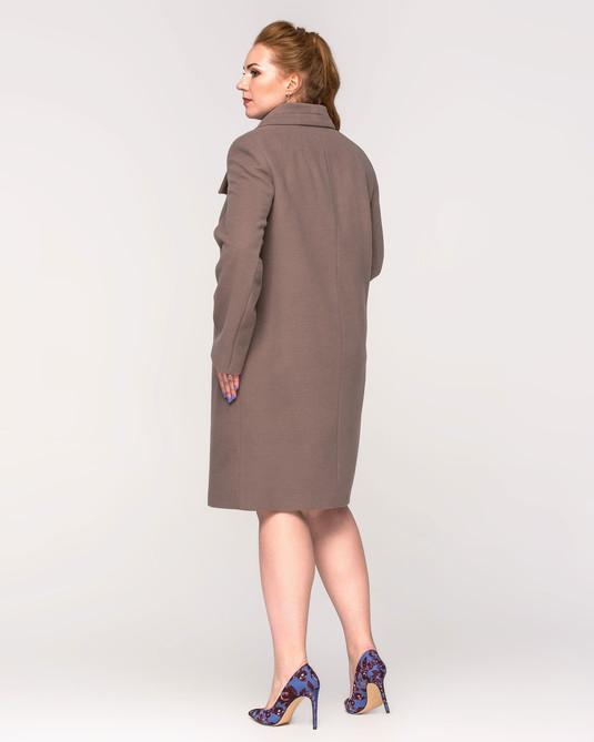 Пальто женское на пуговицах капучино