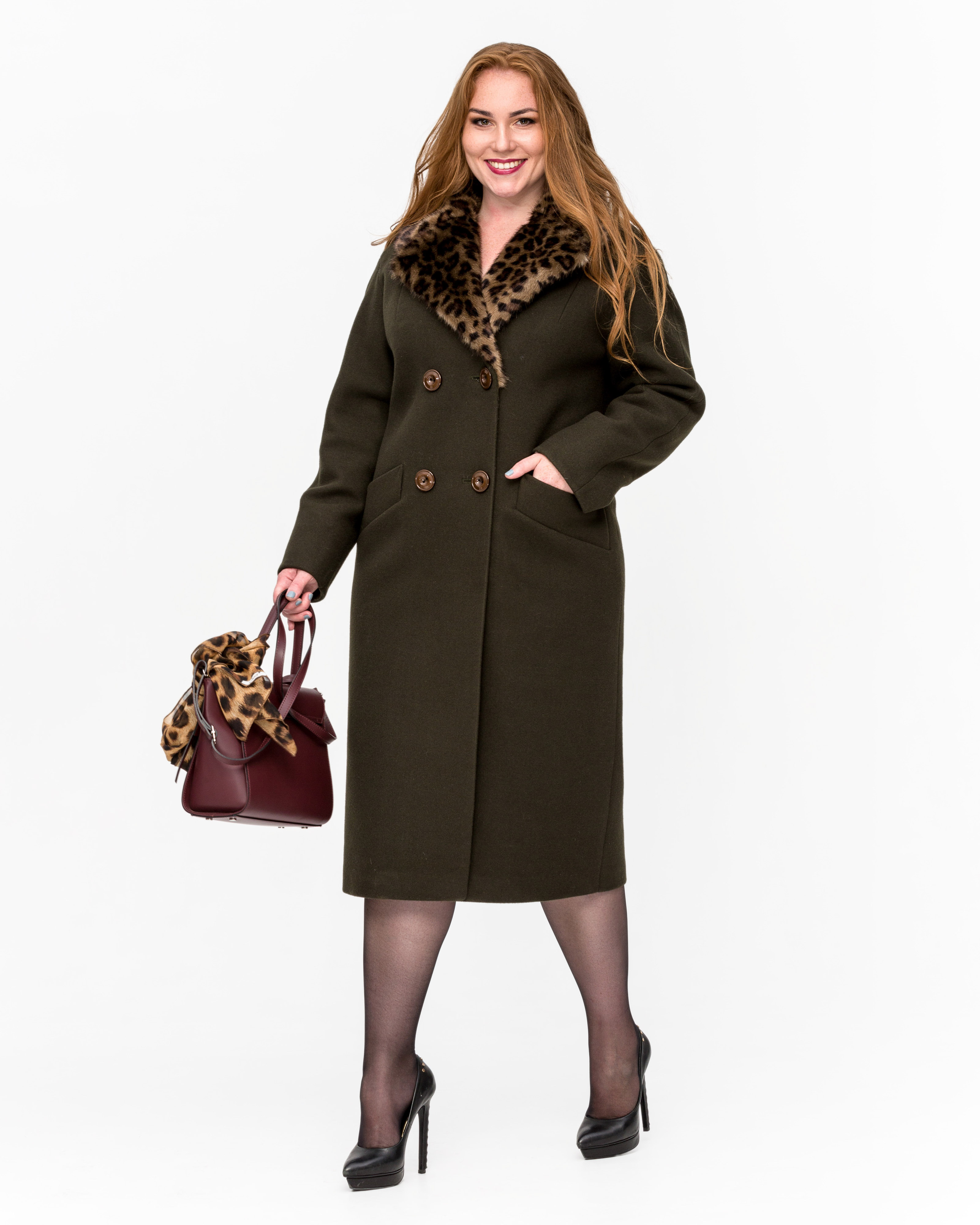Зимнее пальто Леопард