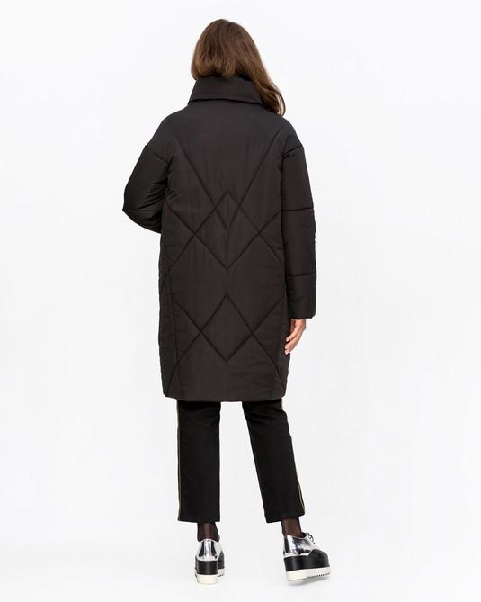 Куртка назапах черный