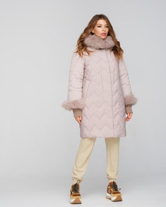 Куртка зимняя с манжетами беж