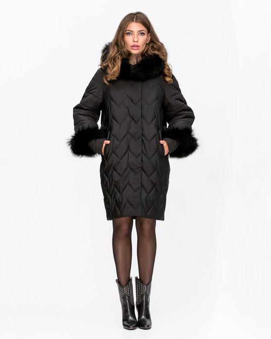 Куртка зимняя с манжетами Черный