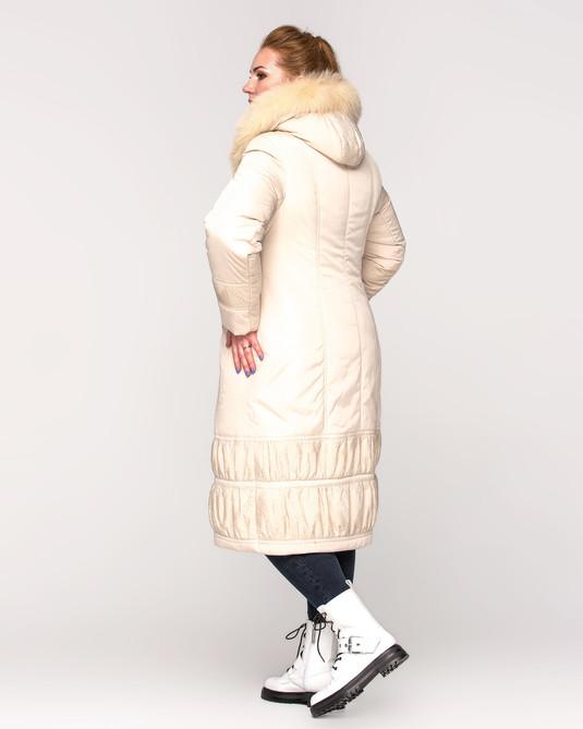 Куртка длинная с жаткой беж