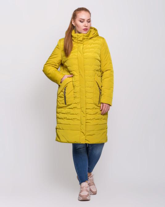 Куртка со сьемным капюшоном желтый