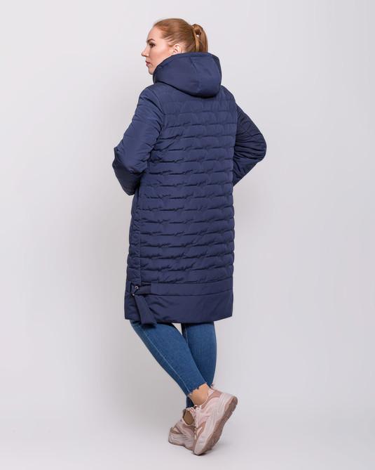 Куртка со сьемным капюшоном синий