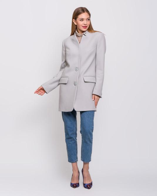Пальто пиджак светло-серое