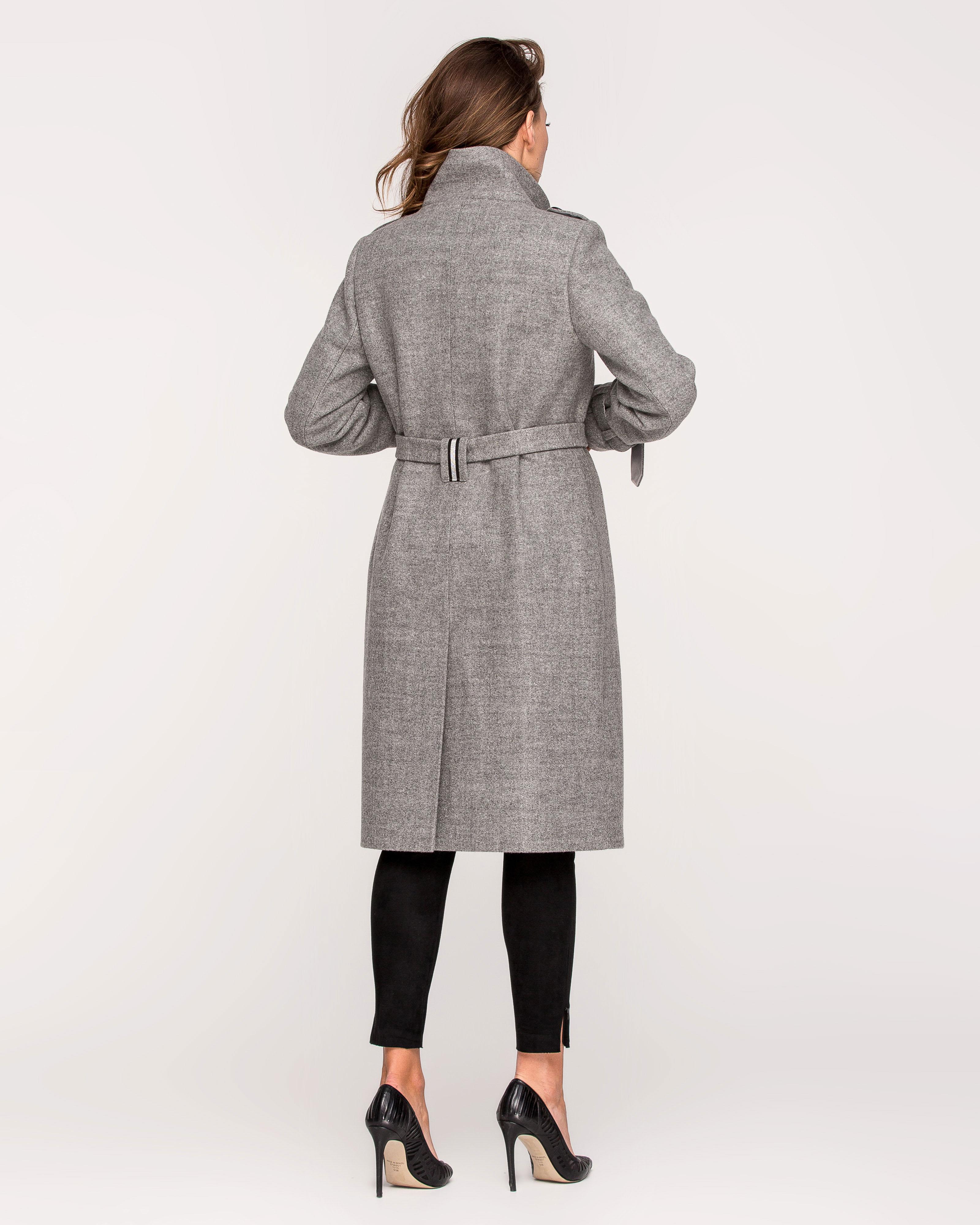 Пальто  воротник стойка