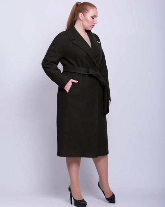 Пальто со спущенными рукавами хаки