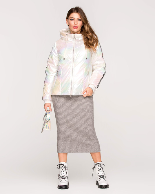 Куртка с лампасами жемчуг
