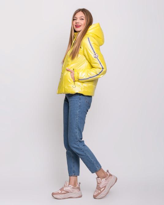 Куртка с лампасами лимон