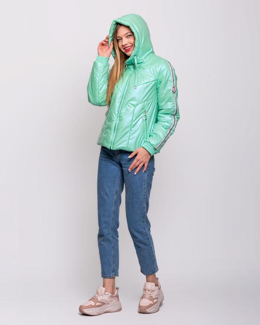Куртка с лампасами ментол