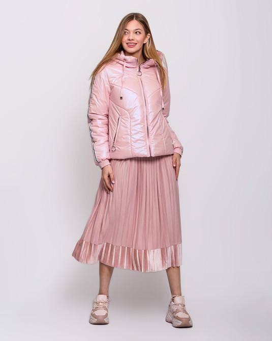 Куртка с лампасами розовая