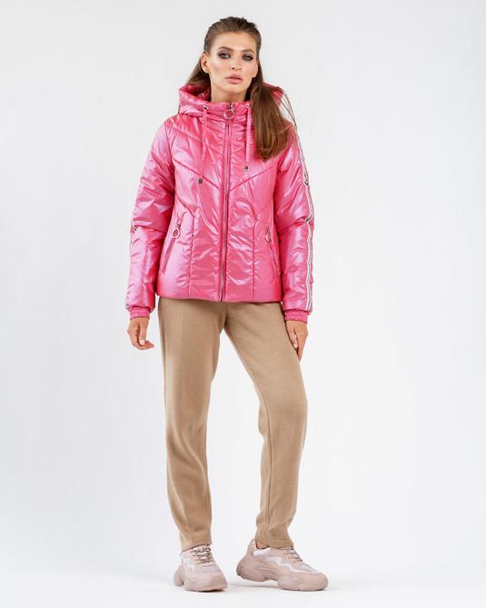 Куртка с лампасами малина